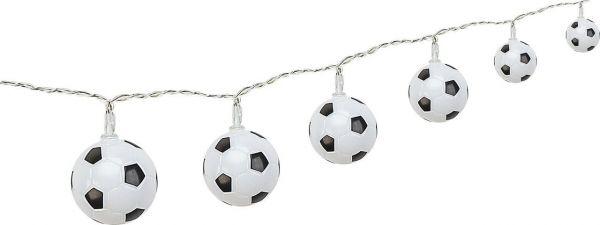 """Lichterkette """"Fußball"""", 10 Fußbälle Ø ca. 5cm, Netzstecker"""